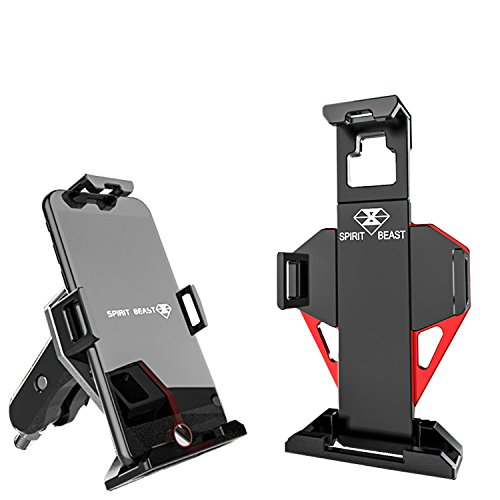 Tigeracing Motorcycle Phone Mount,Motorbike Holder Car Phone Stand GPS Navigation Support Trip Outdoor Equipment Bracket for Smartphones/Mobile Cell phones/iphone/Samsung Galaxy Adjustable