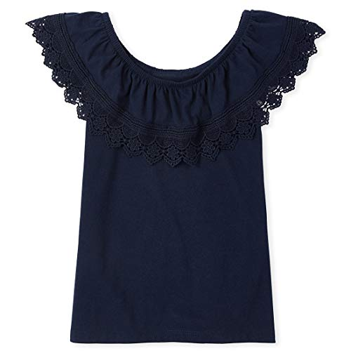 The Children's Place Girls' Crochet Ruffle Top