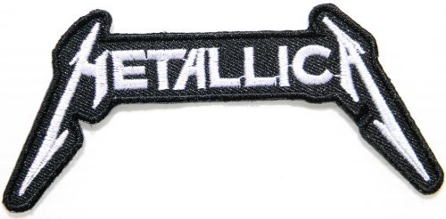 METALLICA Heavy Metal Rock Punk Music Band Logo Patch Sew Iron on Embroidered Polo T-shirt Vest Cloth,Size 4.5Inch X 2Inch