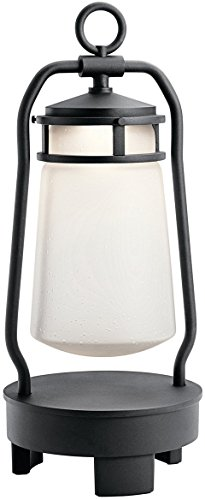 Kichler 49500BKTLED Lyndon Portable Bluetooth Speaker Outdoor Lantern, 1 Light LED 7 Watts, Textured Black by Kichler