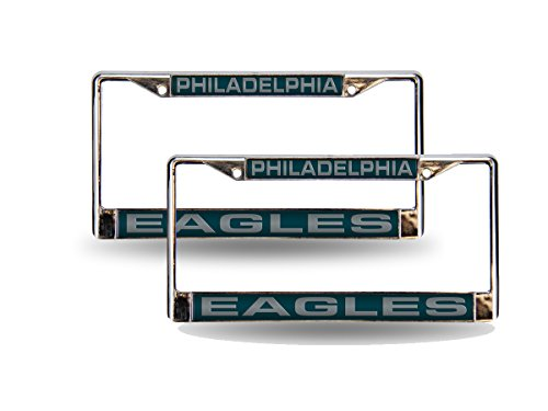 Philadelphia Eagles Laser License Plate (Philadelphia Eagles NFL Chrome Metal (2) Laser Cut License Plate Frame Set)