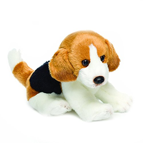 Nat and Jules Sitting Small Beagle Dog Children's Plush Stuffed Animal Toy by Demdaco