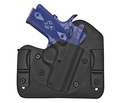 Kimber 1911 Ultra Carry II, Ultra TLE II Hybrid Holster IWB Right Hand Black Concealed Carry Tuckable Holster (Iwb Holster For Kimber Pro Carry Ii)
