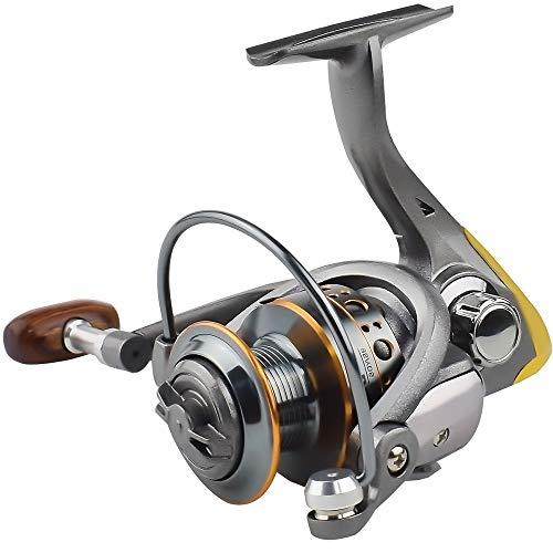 Sqrmekoko Spinning Fishing Reel Ultralight Smooth Powerful Baitcasting Reels for Freshwater Saltwater Bass Fishing