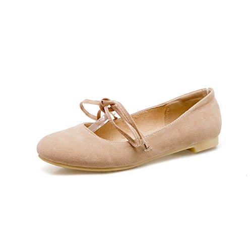 Zapatos Zapatos Zapatos Correa Beige De Plano Femeninos Pajarita Mujer Estudiantes Cabeza De Boca Resorte Solo Fondo GAOLIM De Adolescentes Superficial Redonda xqwHd7Stw