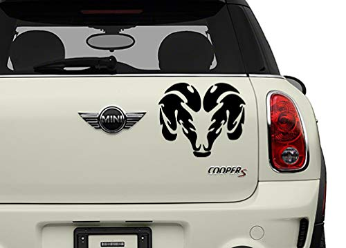 Dodge Ram Black Misc Automotive Decal/Bumper Sticker
