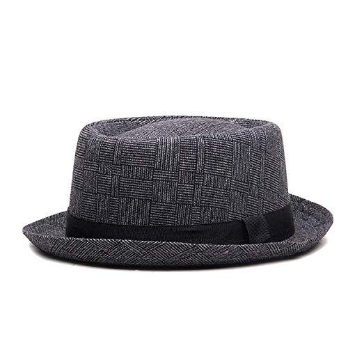 England Retro Couple Fedoras Top Jazz Hat Spring Summer Autumn Bowler Hats Cap Classic Version Women Men Dark Gray -