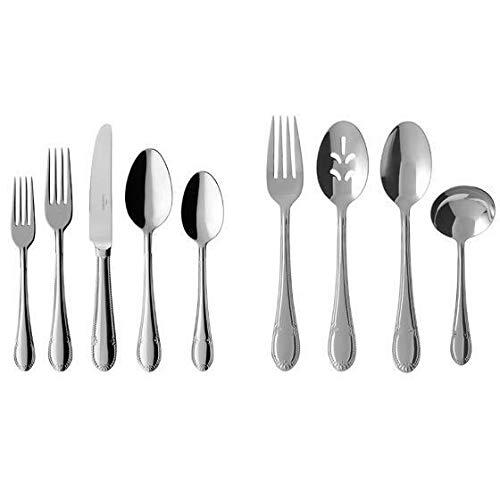 Mademoiselle Stainless Steel Flatware Set Service 64 Pcs New (Villeroy & Boch Mademoiselle 64 Piece Set)