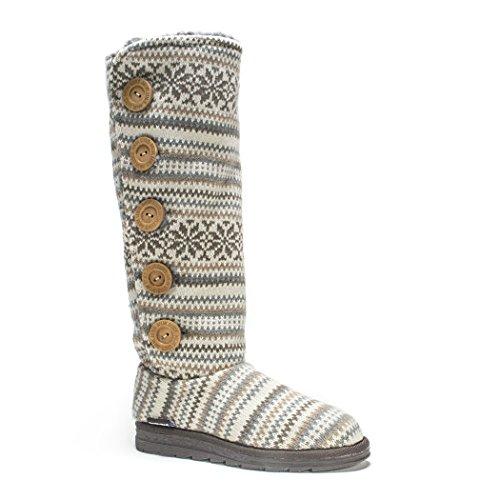 Muk LUKS Women's Malena Fairisle Sweater Winter Boot Vanilla ZPYj5hl