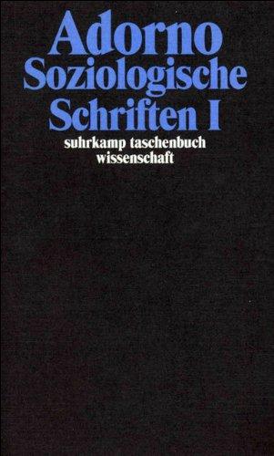 Gesammelte Schriften in 20 Bänden: Band 8: Soziologische Schriften I (suhrkamp taschenbuch wissenschaft) Taschenbuch – 28. April 2003 Theodor W. Adorno Suhrkamp Verlag 3518293087 20.
