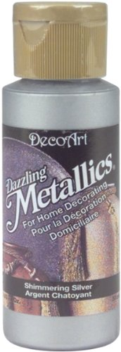 Dazzling Metallics Acrylic Paint 2 Ounces-Shimmer Silver