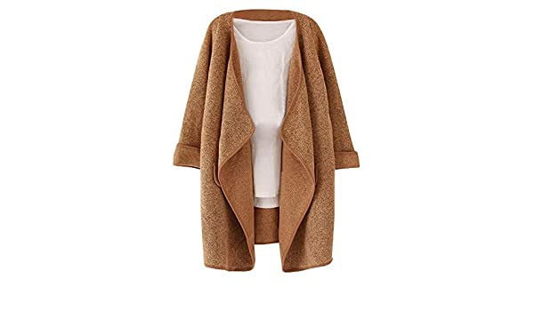 Amazon.com: Gessppo Women Loose Coat Latest Ladies Belt Casual Long Sleeve Lapel Neck Warm Outwear: Clothing