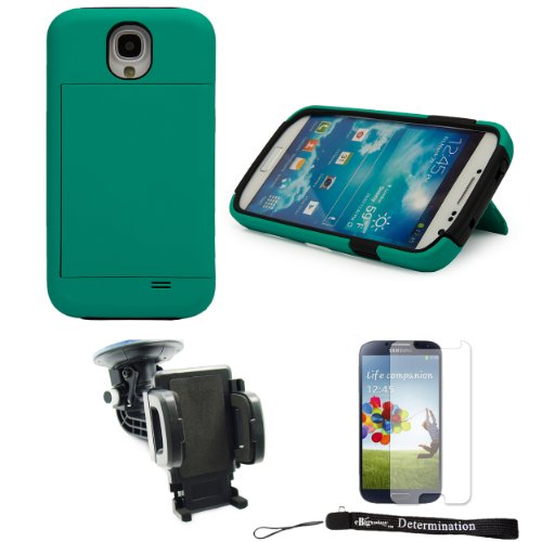 Teal 2-Piece hard Protective Case with Credit Card Holder Sl