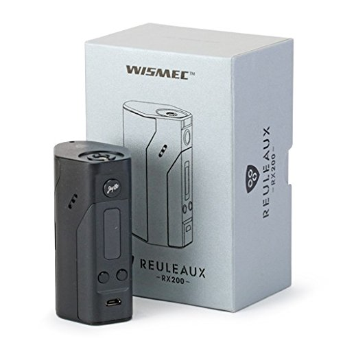 Brushed Gun Metal Gray Protective Air Release Vinyl Decal Wrap for Wismec Reuleaux RX200 Vape Box Mod by Necro Wraps