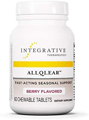 Integrative Therapeutics - ALLQLEAR - Fast-Acting Seasonal Support - Berry Flavored - 60 Chewable Tablets