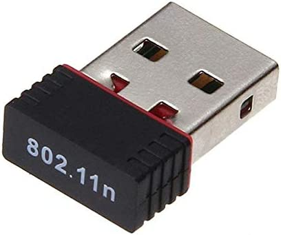 Mini USB 2.0 802.11n 150Mbps Wifi Network Black Adapter for Windows Linux PC Com