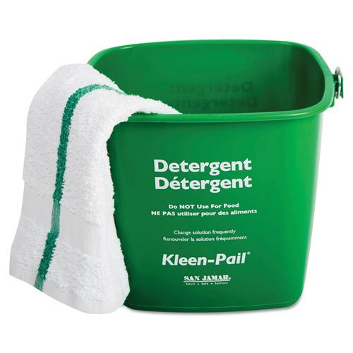 - San Jamar Kleen-Pail Cleaning Bucket, 3-Quart, Green - Includes 12 per case. by San Jamar