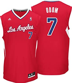 Lamar Odom Jersey  adidas Revolution 30 Red Replica   7 Los Angeles  Clippers Jersey  Amazon.ca  Sports   Outdoors ebb9224fe