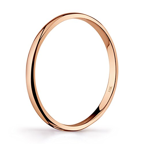 10k Yellow Or White Rose Gold Light Comfort Fit 2mm Wedding Band