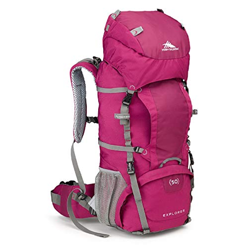 High Sierra Womens Explorer 50 Internal Frame Pack, Boysenberry/Ash