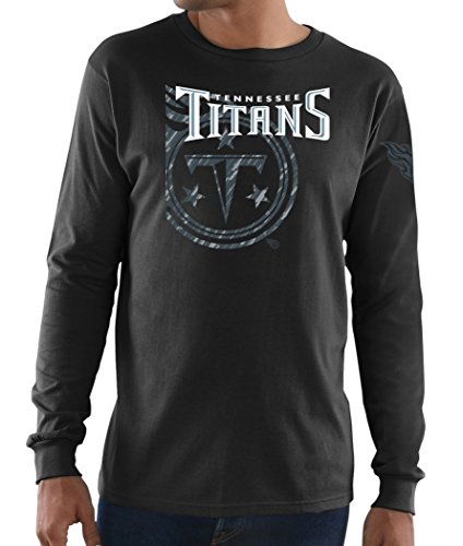 (Majestic Tennessee Titans NFL Elite Reflective Men's L/S Black T-Shirt)