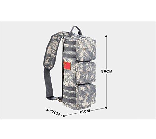 TaoMi- Mochila al aire libre - camuflaje bolso hombro hombres y mujeres al aire libre paquete de deportes bolsa Messenger Bag ( Color : B , Tamaño : 30L ) C