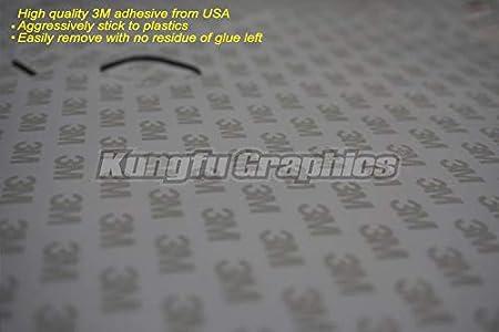 Black Green Kungfu Graphics Kawasaki Logo Pattern Custom Decal Kit for Kawasaki KX250F KXF250 KX 250F KXF 250 2017 2018