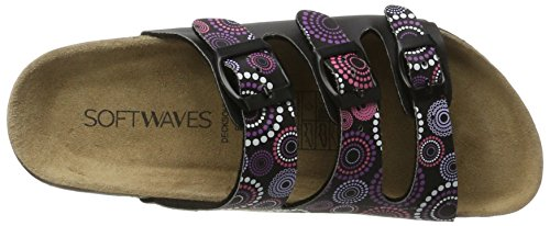 Softwaves 274 482 - Mules Mujer Schwarz (Black)