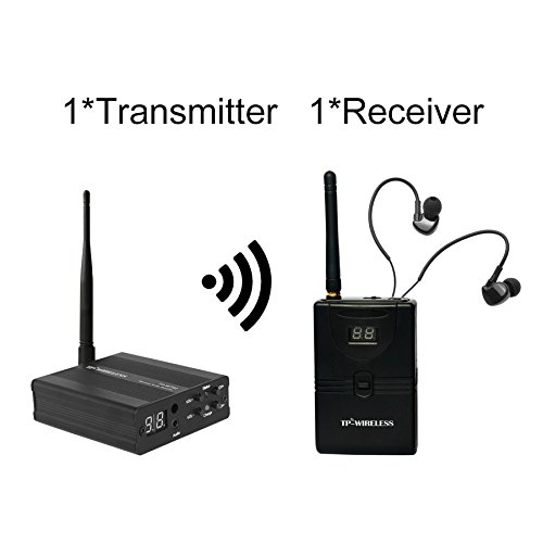 TP-WIRELESS 2.4GHz Professional in-Ear Digital Wireless Stage Audio Monitor System (1 Transmitter and 1 Receiver)