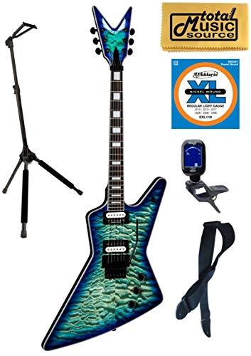 (Dean Z Select Quilt Top Electric Guitar, Ocean Burst, Z SEL F QM OSB, Stand Bundle)