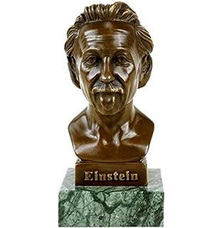 Physicist Scientist Albert Einstein Cast Iron Bust Statue Sculpture NEW