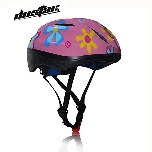 Dostar Kids Bike Helmet – Adjustable from Toddler to Youth Size, Ages 5-14 Cycling Scooter Multi-sport Kid Bicycle Helmets Boys/Girls will LOVE- CSPC Certified for Safety (Colorful Powder)