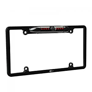 Esky 170° Viewing Angle Universal Car License Plate Frame Mount Rear View Camera, 8 IR LED