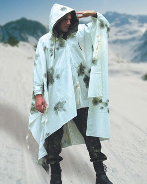 German Snow Camo Poncho