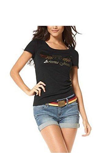 Camiseta con Aplicaciones de lentejuelas Mujer de Arizona - Negro, 32/34: Amazon.es: Ropa y accesorios
