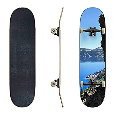 EFTOWEL Skateboards Cliff at Crater Lake or Mountain Stock Pictures Royalty Free Photos Classic Concave Skateboard Cool Stuff Teen Gifts Longboard Extreme Sports for Beginners and Professionals : Sports & Outdoors
