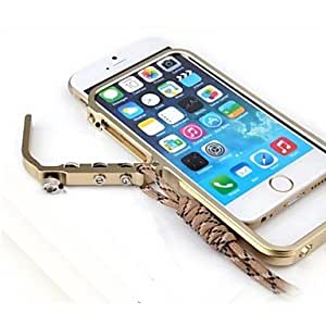 PG Metal Frame with Bracelet Phone Protection Shell for iPhone 6 Plus(Khaki)