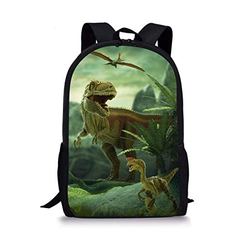 Thikin Galaxy Dinosaur Animal School Backpack with Padded Straps 3D Cartoon Student Stylish Unisex Daypack for Boys Girls School Book Bags