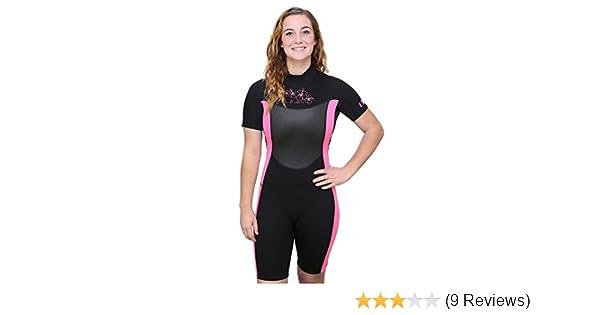 Amazon.com: U.S. Divers Womens Shorty Wetsuit, Black/Pink ...