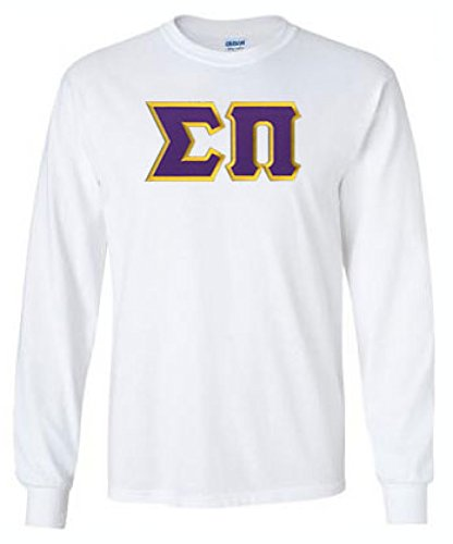 Sigma Pi Lettered Long Sleeve Medium White