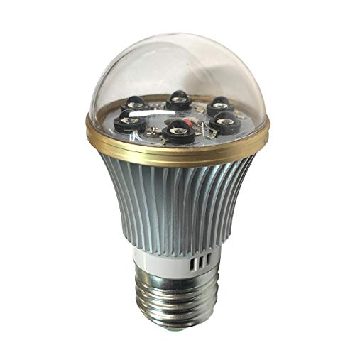 Infrared Light Bulb - Total Invisible Super Wide 940nM IR Light Bulb Covert Lamp (6 LED illuminators) 20ft Range, 160 deg, 120VAC
