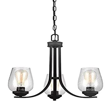 Sea Gull Lighting 3127803-839 Morill Three Light Chandelier, Blacksmith Finish