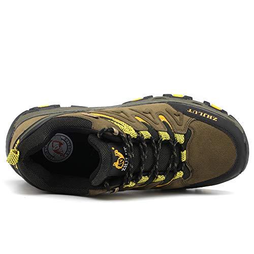 BOTEMAN Chaussures de Randonnée pour Femme et Homme Bottes de Trekking en Plein Air Imperméable Respirant Antidérapant… 3