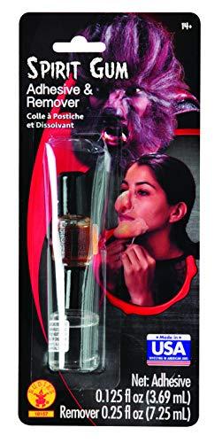 Spirit Gum Adhesive (Rubie's Costume Spirit Gum and Remover, Transparent, One)
