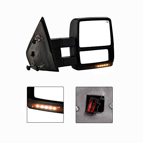 Make Auto Parts Manufacturing - New Passenger/Right Side Power Heated Turn Signal w/Puddle Tow Mirror for Ford F150 2004-2006 - FO1321321, FO1321242 ()
