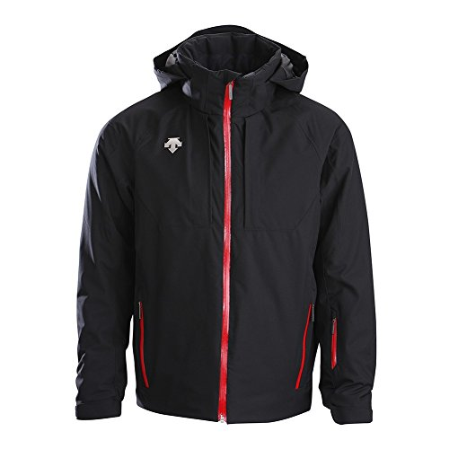 Descente Piper Jacket Men's Black/Electric Red (Descente Black Jacket)