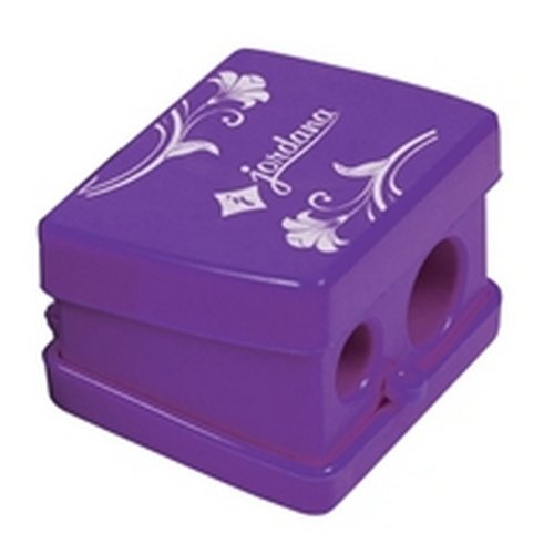 (3 Pack) JORDANA Jumbo Slim Duo Sharpener - Purple w/Cover