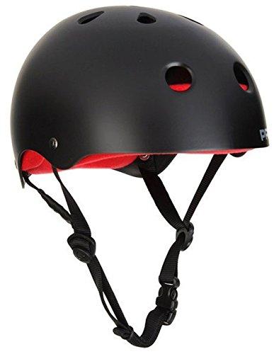 (Pro-tec Classic Skate Plus Satin Skateborad Helmet, Black, Small)