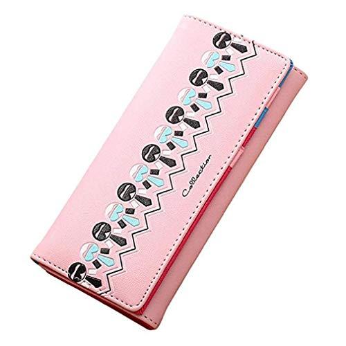 La Bolso Moneda Monedero Cerrojo Patrón Caliente ¡ofertas De Impresión Mujeres Las Mano rosa 18cmx9cm Cartera Rosa Del Scpink XzqS85