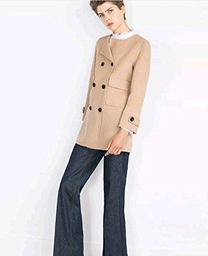 Cappotto Giacca Beige Marrone Cammello Zara Original taglia